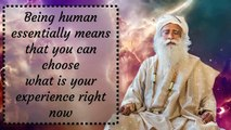 Human - The Only Creature With Freedom To Choose - Sadhguru About Human