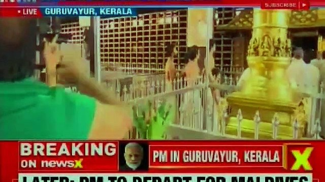 PM Narendra Modi's first visit to Kerala after election win; does Parikrama at Sri Krishna temple