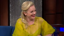 A Cry-Off Between Elisabeth Moss And Stephen Colbert