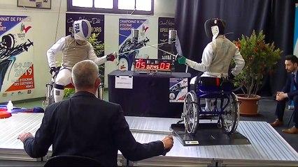 Championnat de France escrime Handisport Fleuret demi finale N1 Nîmes