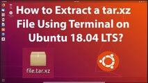 How to Extract RAR Files on Ubuntu 18 04 LTS? - video
