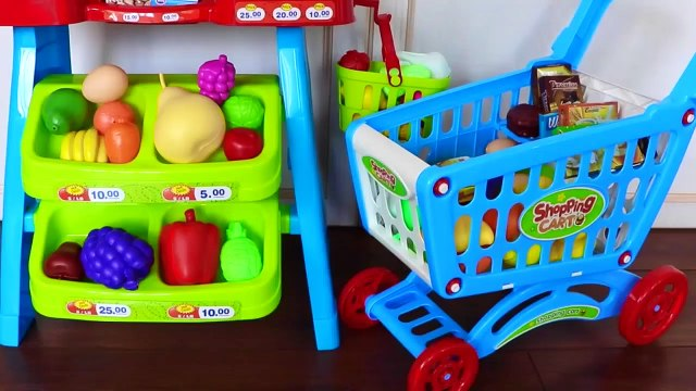 Playing Toy Super Market Grocery shopping store cart!