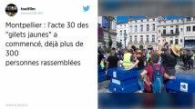 Tensions autour de la manifestation des gilets jaunes à Montpellier
