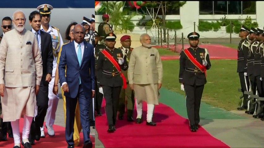 Guard of honour to PM Narendra Modi in Maldives | Oneindia News