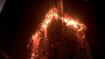 Fire breaks out at high-rise building in Warsaw