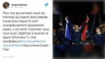«Sommes-nous, nous aussi, légitimes à recevoir la Légion d'honneur?» Une handballeuse championne du monde interpelle Emmanuel Macron