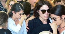 Beren Saat ve Belçim Bilgin Aykut Cömert'in cenazesinde gözyaşlarına boğuldular