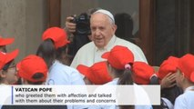 Pope Francis meets 400 children affected by tragedies