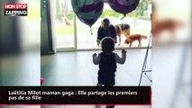 Laëtitia Milot maman gaga : Elle partage les premiers pas de sa fille (vidéo)