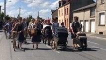 75e D-Day. Marche de l'exode à Carantan