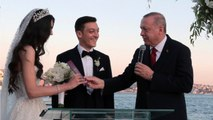 Turkish President Erdogan Takes On Role Of Witness For Mesut Ozil's Wedding