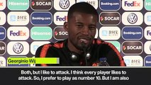 (Subtitled) Wijnaldum happy to change from Liverpool role and attack with Netherlands