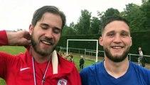 Coupe du Rhône – Arnaud ROZAND et Dylan GROS réagissent après la victoire du FC LYON contre MDA Foot B