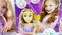 Princess Rapunzel Deluxe Styling Head Barbie Make-up Set Putri Barbie Kosmetik Cosméticos Brinquedo   Karla D.