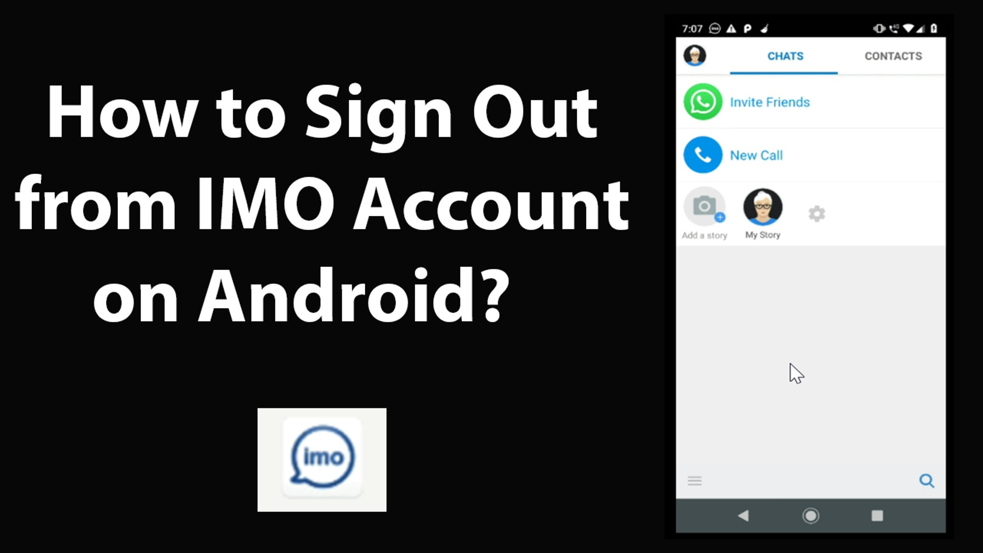 How to Sign Out from IMO Account on Android?