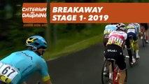 Breakaway - Étape 1 / Stage 1 - Critérium du Dauphiné 2019