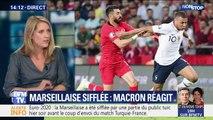 """Emmanuel Macron a jugé """"inacceptable"""" le fait que la Marseillaise soit sifflée lors du match France-Turquie"""