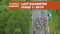 Last Kilometer / Dernier kilomètre - Étape 1 / Stage 1 - Critérium du Dauphiné 2019