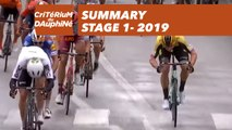 Summary - Stage 1 - Critérium du Dauphiné 2019