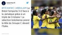 Coupe du monde féminine 2019 : Le Brésil donne une leçon à la Jamaïque grâce à un triplé de Cristiane