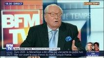 """Jean-Marie Le Pen: """"Le Rassemblement national ressemble comme un frère"""" au Front national """"depuis le départ de M. Philippot"""""""
