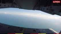 Sur la rampe d'un A400M en Normandie