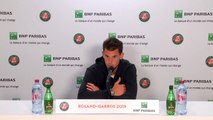 Thiem reacts after losing his second French Open final in a row to Nadal