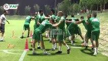 Première séance d'entrainement des Verts au Qatar