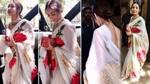 Malaika Arora wears white Saree at Sonam Kapoor's birthday bash; Watch Video | Boldsky