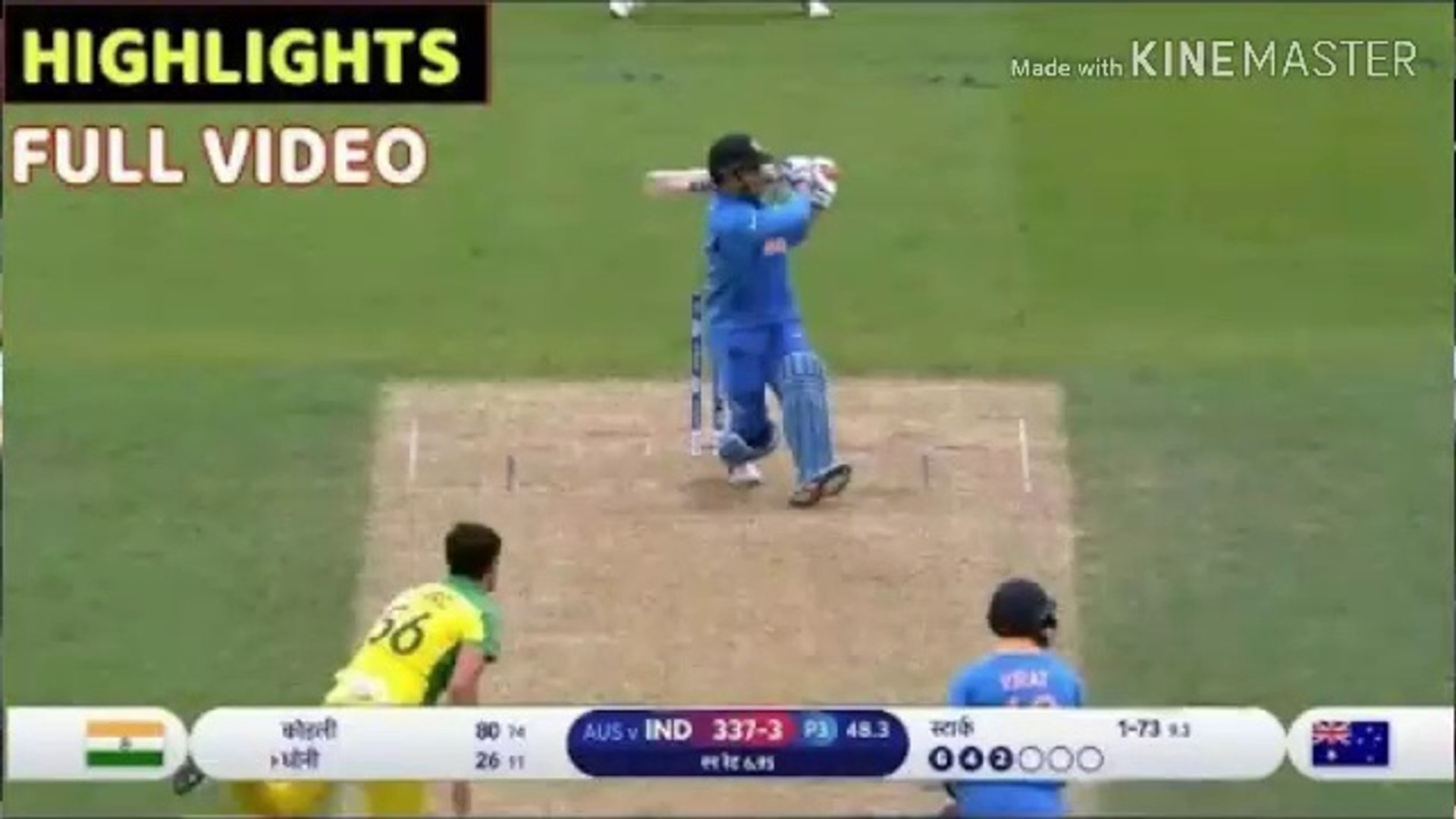 India Vs Australia World Cup 2019 Full Match Highlights Live Cricket 2019