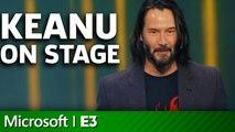 Cyberpunk 2077 - Keanu Reeves On Stage   Microsoft Xbox E3 2019