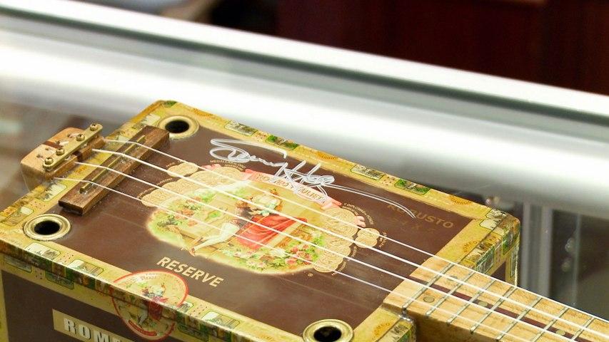 Pawn Stars: Corey Tunes Up a Sammy Hagar Signed Cigar Box Ukulele