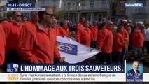 Marche blanche aux Sables-d'Olonne: les sauveteurs applaudis par les Vendéens