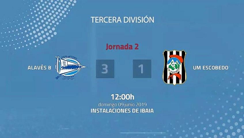 Resumen partido entre Alavés B y UM Escobedo Jornada 2 Tercera División - Play Offs Ascenso