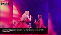 Jennifer Lopez en concert : La star chante avec sa fille sur scène (vidéo)