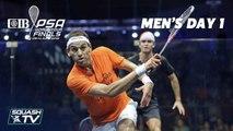 Squash: CIB PSA World Tour Finals 2018/19 - Men's Day 1 Roundup