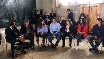 Franck Riester ministre de la Culture interroge les jeunes sur leur visite du musée Courbet