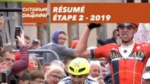Résumé - Étape 2 - Critérium du Dauphiné 2019