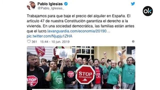 """Iglesias dice que lucha por bajar el alquiler y Twitter le devora: """"¡Alquila habitaciones en Galapagar!"""""""