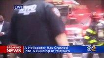 New York : Un hélicoptère a heurté un immeuble sur la 7e avenue, au nord du Centre Park à Manhattan annoncent les pompiers de la ville
