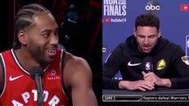 Klay Thompson MOCKS Kawhi Leonard's Laugh As He Gets Cocky Before Game 5!