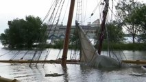 19th century wooden ship sunk costing €1.5 million in restoration sinks in River Elbe collision