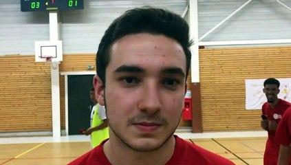 Finale Coupe LAuRA Futsal – Alex INACIO réagit après la victoire de FS MONT D'OR contre COURNON Futsal