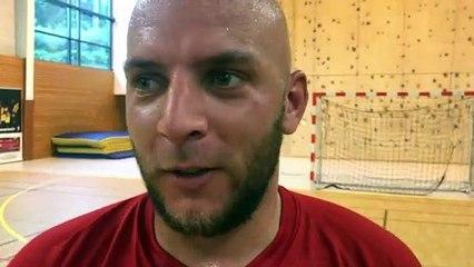Finale Coupe LAuRA Futsal – Jérémy PICARD réagit après la victoire de FS MONT D'OR contre COURNON Futsal