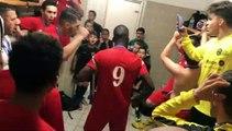 Finale Coupe LAuRA Futsal – La joie du vestiaire de FC MONT D'OR après le victoire contre COURNON Futsal