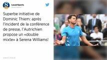 Tennis. Dominic Thiem propose un « double mixte » à S. Williams après l'incident de Roland-Garros
