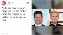 Justin Bieber défie Tom Cruise de l'affronter en combat libre dans un octogone