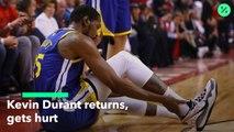 Warriors Star Kevin Durant Gets Hurt Again