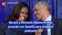 Barack y Michelle Obama firman acuerdo con Spotify para producir podcasts