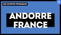 Andorre-France : les compositions probables